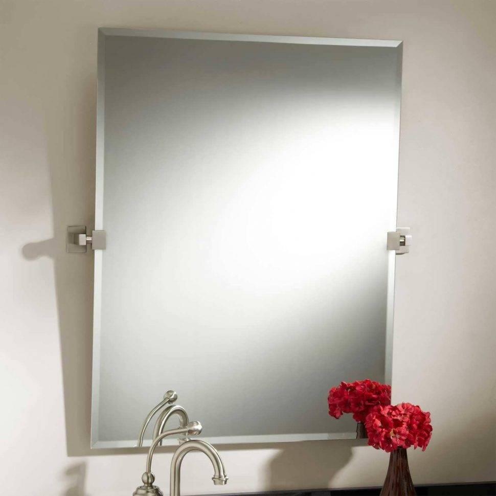 Bathroom Cabinets : Contemporary Bathroom Contemporary Bathroom With Regard To Large Contemporary Mirrors (View 4 of 15)