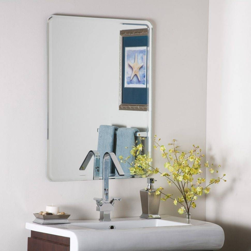 Bathroom Cabinets : Frameless Mirror Big Mirrors Bathroom Mirrors With Large Bevelled Edge Mirrors (View 6 of 15)