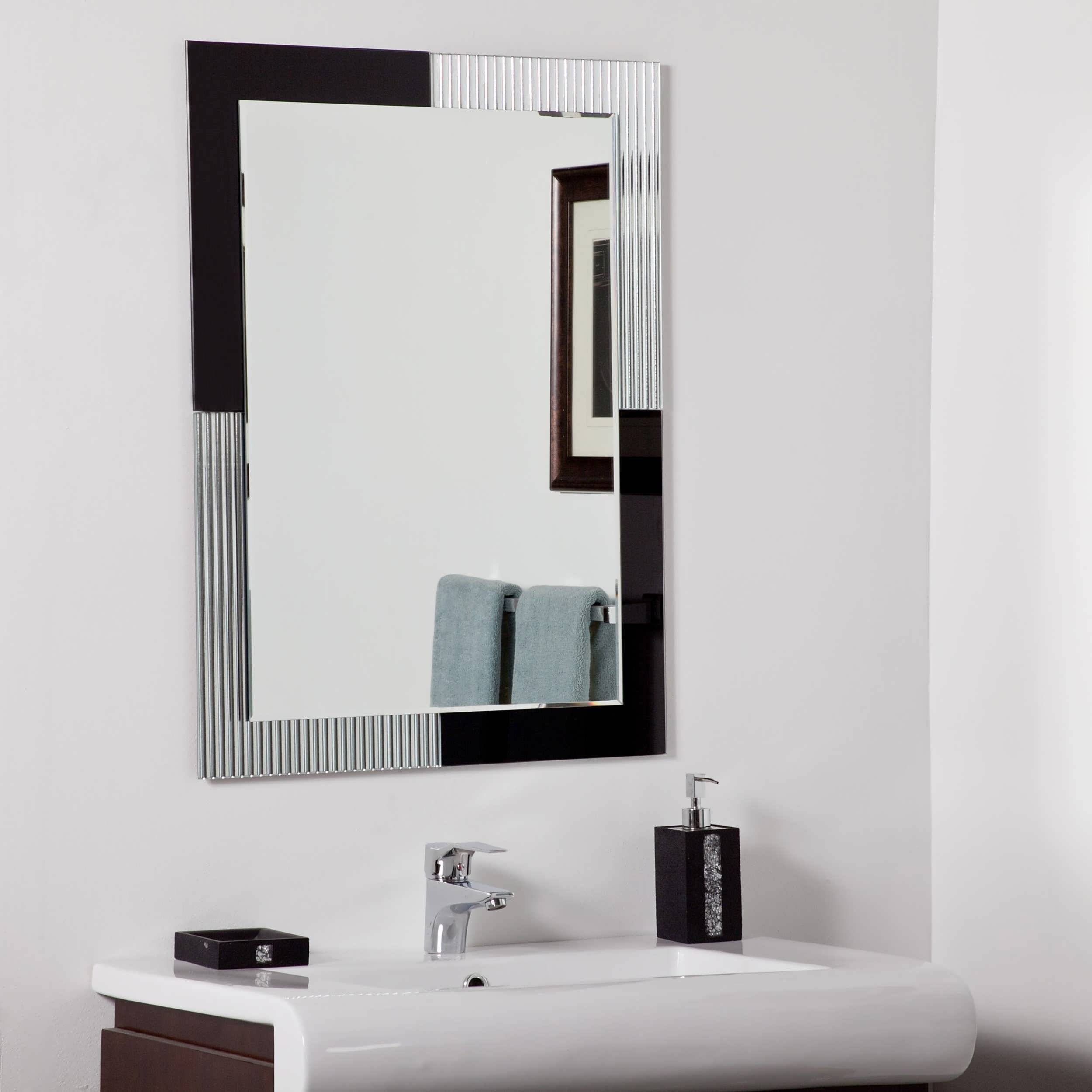 Bathroom Cabinets : Large Art Deco Mirror Illuminated Bathroom inside Art Deco Full Length Mirrors (Image 6 of 15)