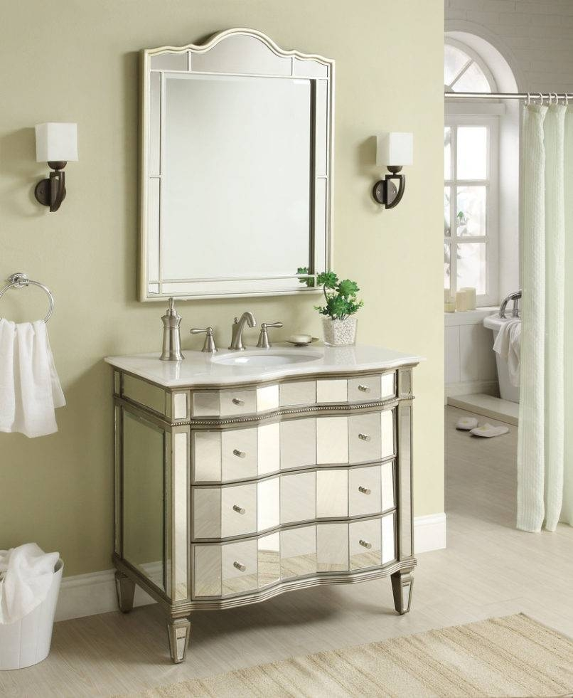 Bathroom Cabinets : Large Bevelled Mirror Decorative Bathroom inside Silver Long Mirrors (Image 3 of 15)