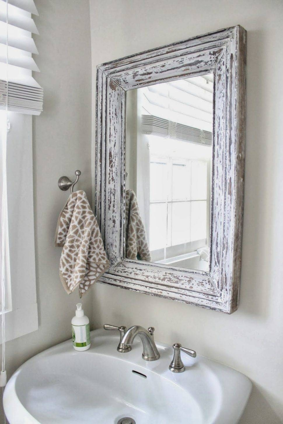 Bathroom Cabinets : Large Bevelled Mirror Decorative Bathroom pertaining to Silver Long Mirrors (Image 4 of 15)