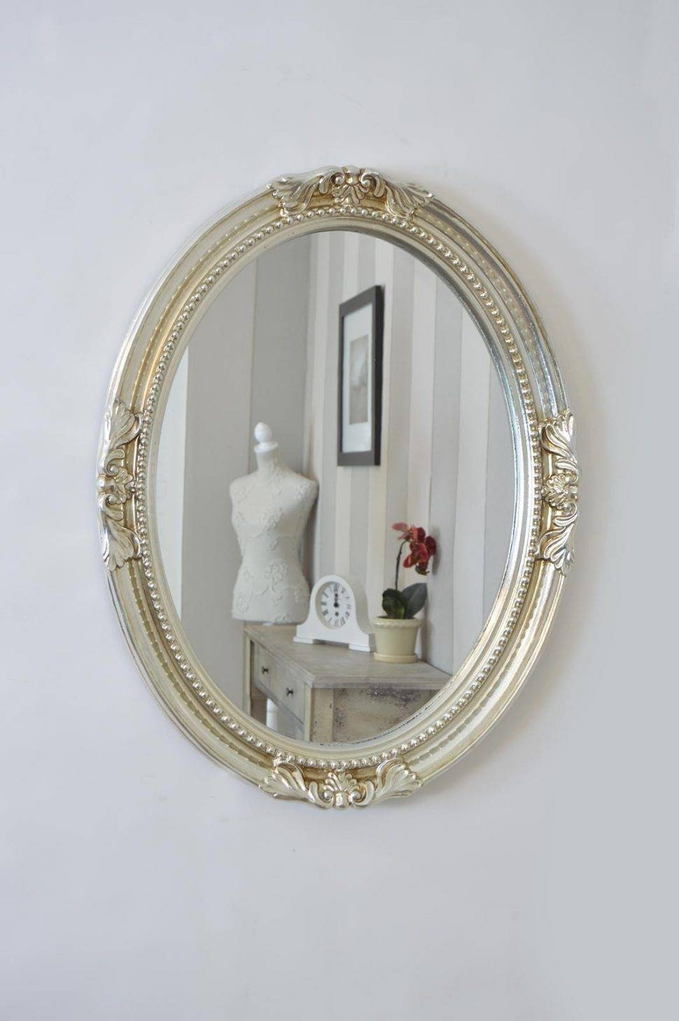decorative mirrors for bathrooms 15 best collection of silver mirrors 18078