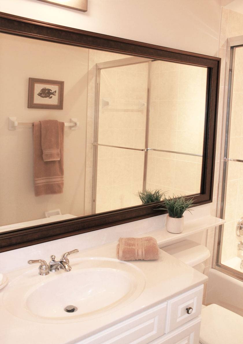 Bathroom Cabinets : Large Bevelled Mirror Decorative Bathroom with Silver Long Mirrors (Image 5 of 15)