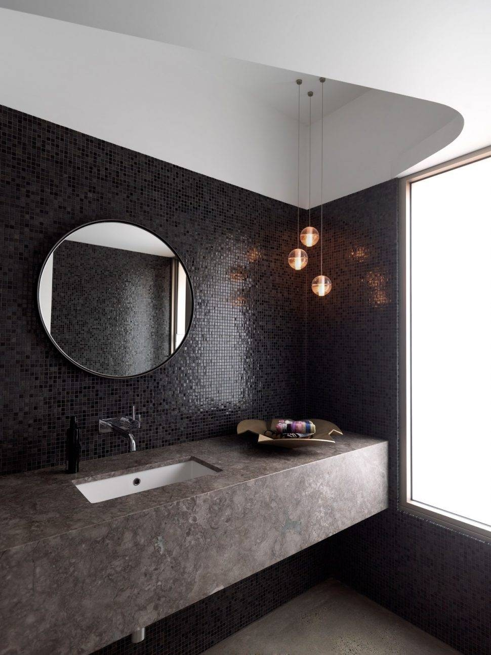Bathroom Cabinets : Large Round Bathroom Mirrors Bathroom Marble Throughout Large Round Black Mirrors (View 15 of 15)