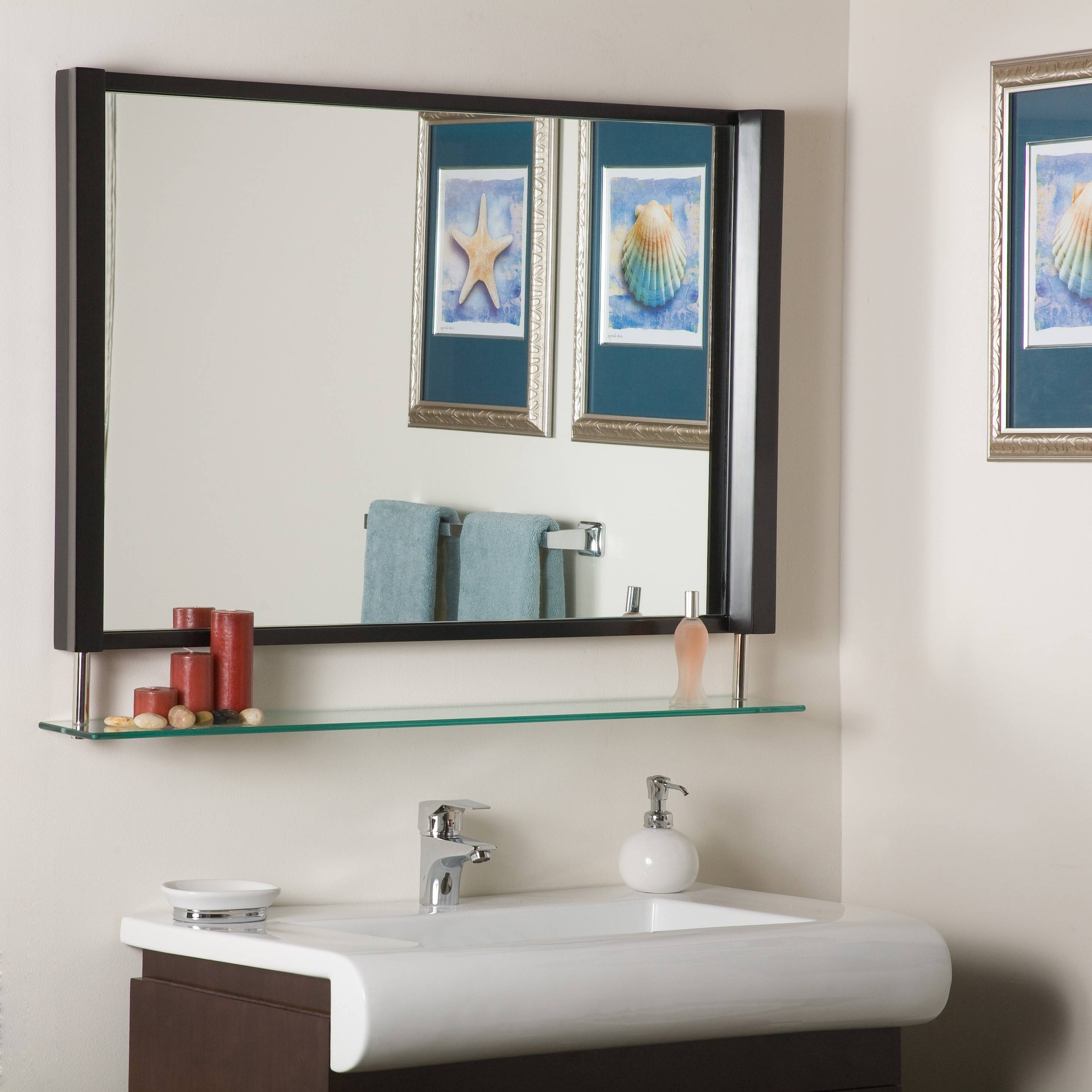 Bathroom Cabinets : Small Vintage Mirrors Brushed Nickel Bathroom throughout Cheap Vintage Style Mirrors (Image 2 of 15)