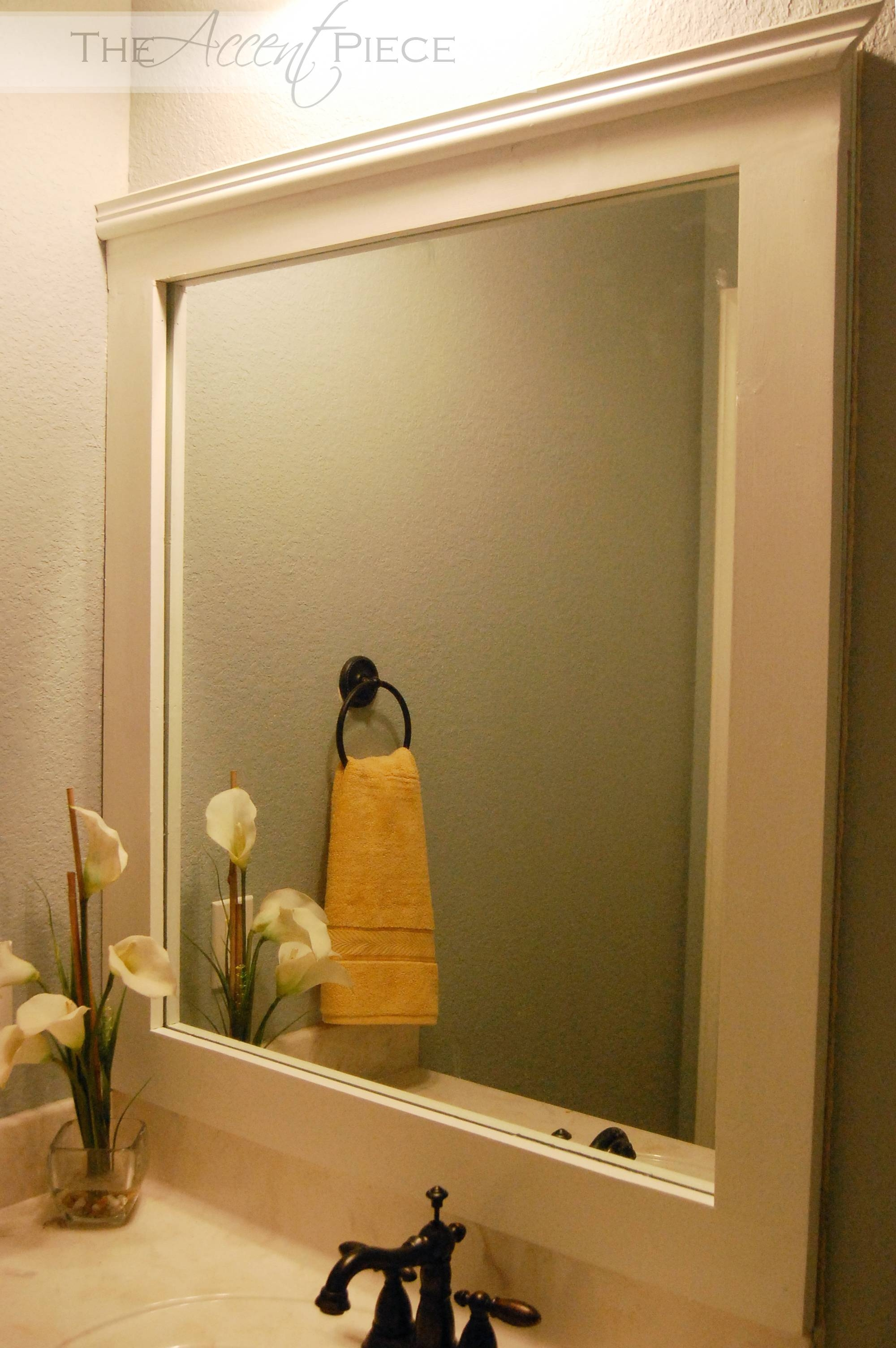 Bathroom Cabinets : Vanity Wall Mirror Mirror Trim Large Black within Large Black Mirrors (Image 6 of 15)
