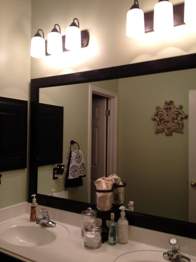Bathroom: Frameless Mirrors | Large Framed Bathroom Mirrors with regard to Large Black Mirrors (Image 7 of 15)