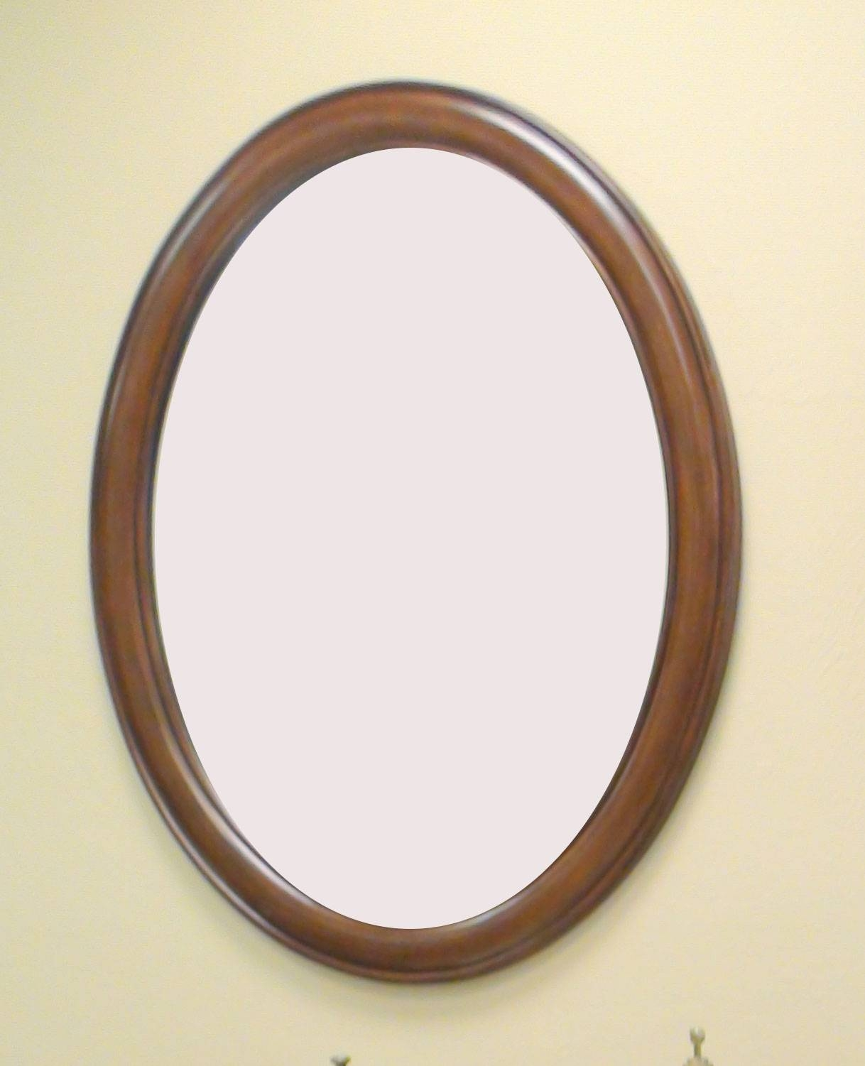 Bathroom Ideas: Wooden Oval Home Depot Bathroom Mirrors On Cream inside Oval Cream Mirrors (Image 4 of 15)