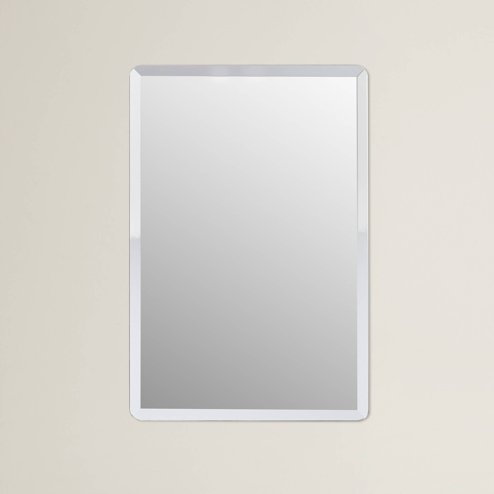 Bathroom: Light Up Your Home With Frameless Beveled Mirror Pertaining To Square Frameless Mirrors (View 4 of 15)
