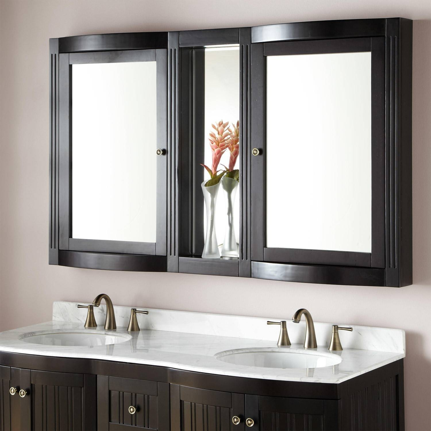 Bathroom Medicine Cabinets | Signature Hardware regarding Black Cabinet Mirrors (Image 2 of 15)