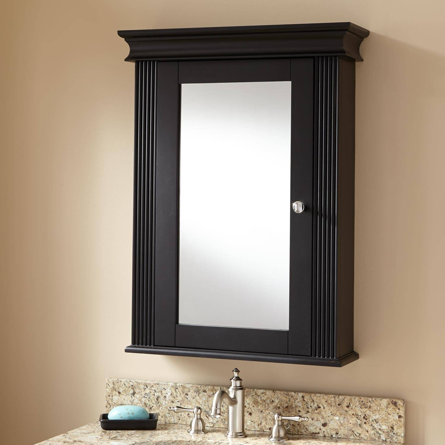 Bathroom Mirror Cabinet Bunnings 2016 Bathroom Ideas Designs Intended For Black Cabinet Mirrors (View 3 of 15)