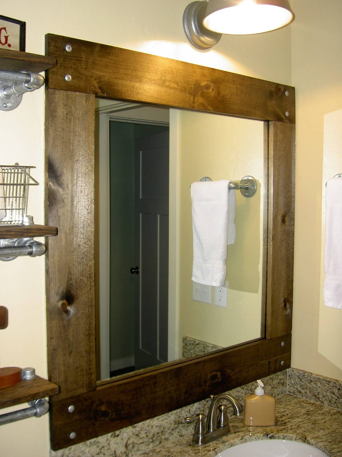 Bathroom Mirrors : Oak Framed Mirrors Bathroom Home Interior in Rustic Oak Framed Mirrors (Image 6 of 15)