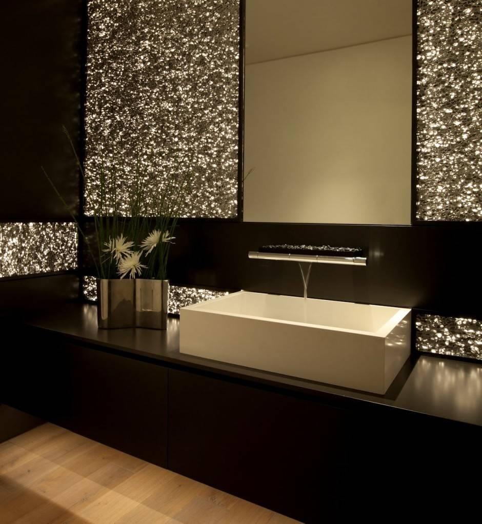 Bathroom : Modern Bathroom Decoration And Design Ideas With Dark regarding Glitter Wall Mirrors (Image 3 of 15)