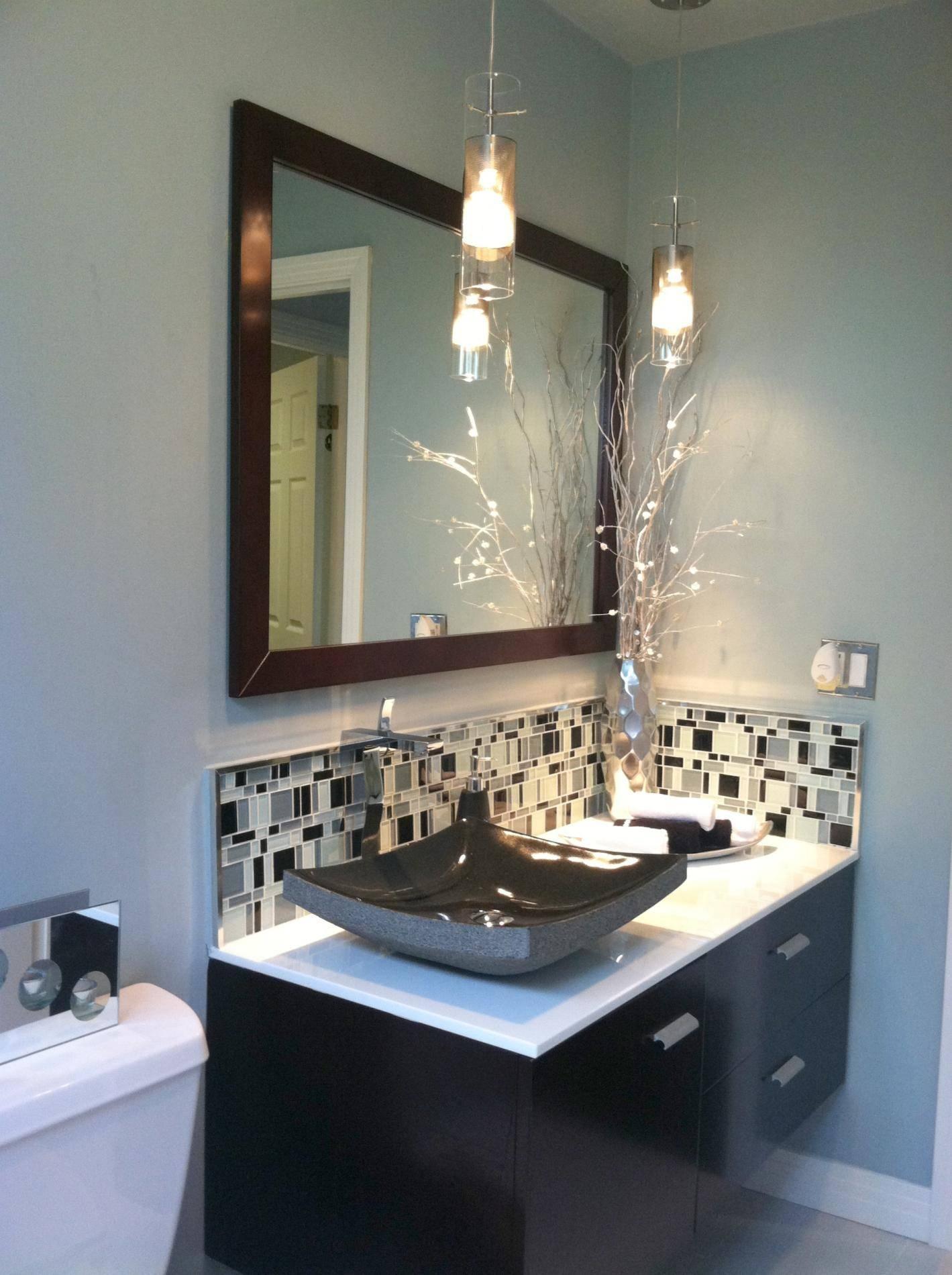 Bathroom Pendant Lighting Fixtures With A Controllable Light regarding Mini Pendant Lights For Bathroom (Image 7 of 15)