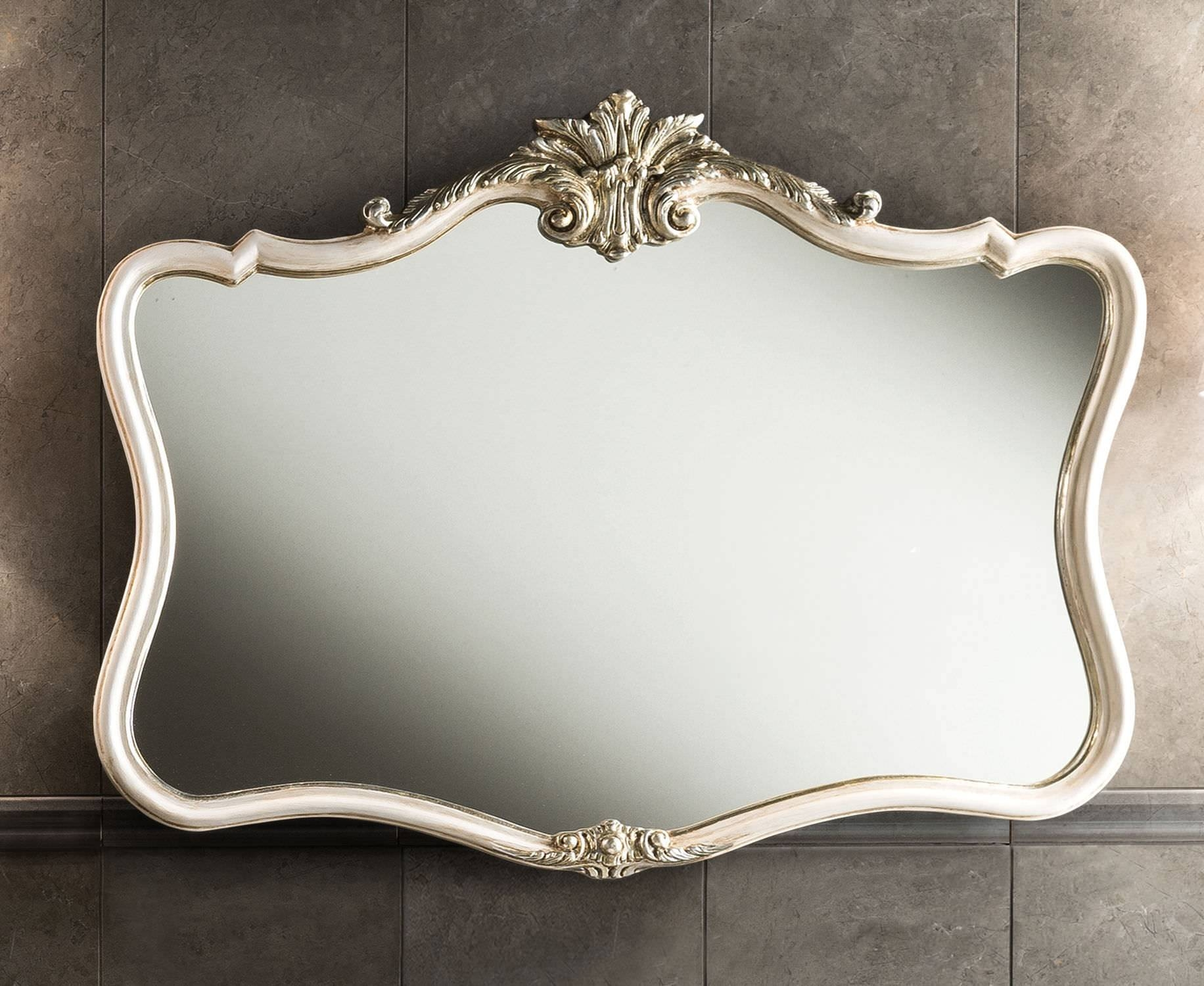 Bathroom: Pink Baroque Mirrorand Round Baroque Mirror With Golden throughout Modern Baroque Mirrors (Image 10 of 15)