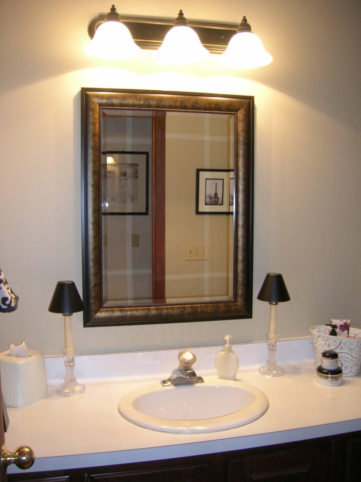 Bathroom Wall Light Fixture. Farmhouse Style Bathroom Light intended for Wall Light Mirrors (Image 3 of 15)
