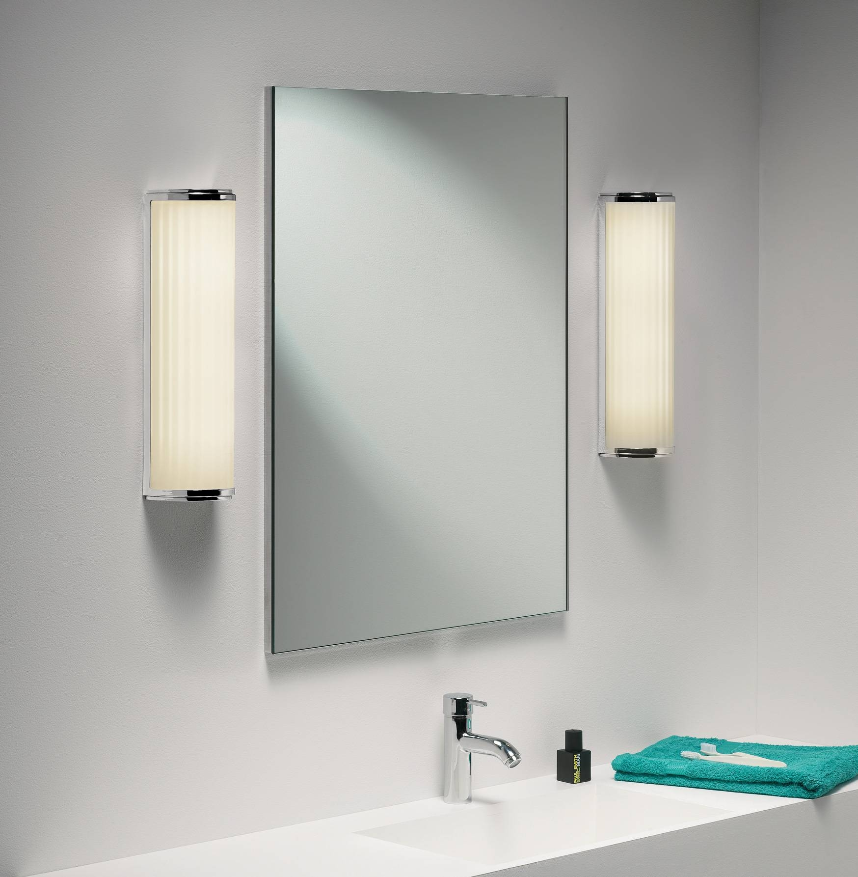 Bathroom Wall Lights | Vanity Lights | Abbeygate Lighting throughout Wall Light Mirrors (Image 4 of 15)