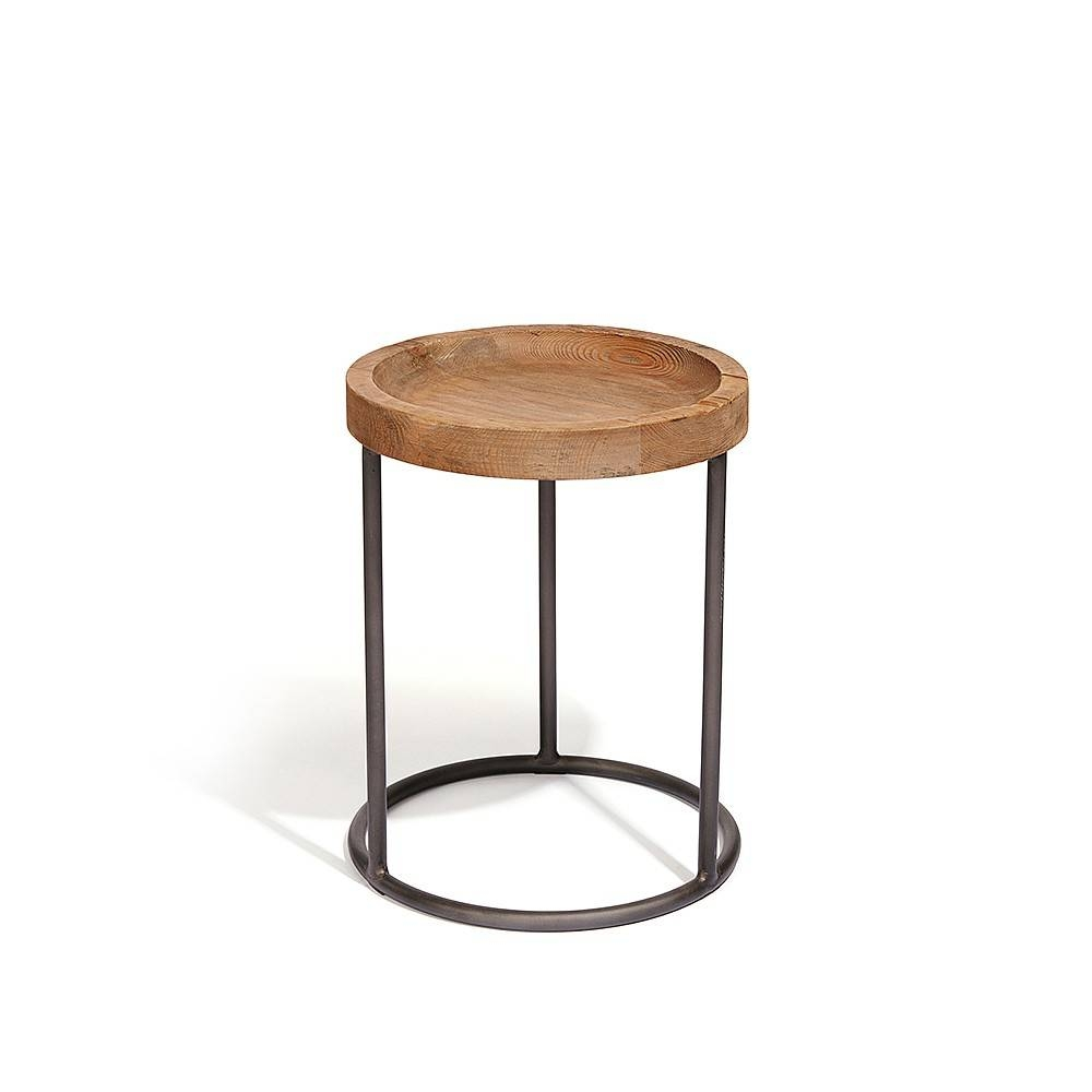 Baxter Round Industrial Side Table intended for Industrial Round Coffee Tables (Image 1 of 15)