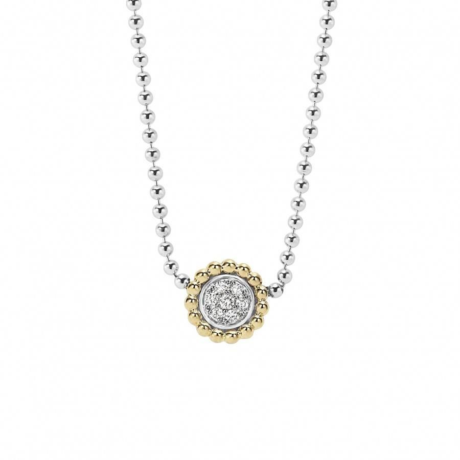 Beaded Pendant Necklace | Diamonds & Caviar | Lagos Jewelry inside Caviar Pendants (Image 5 of 15)