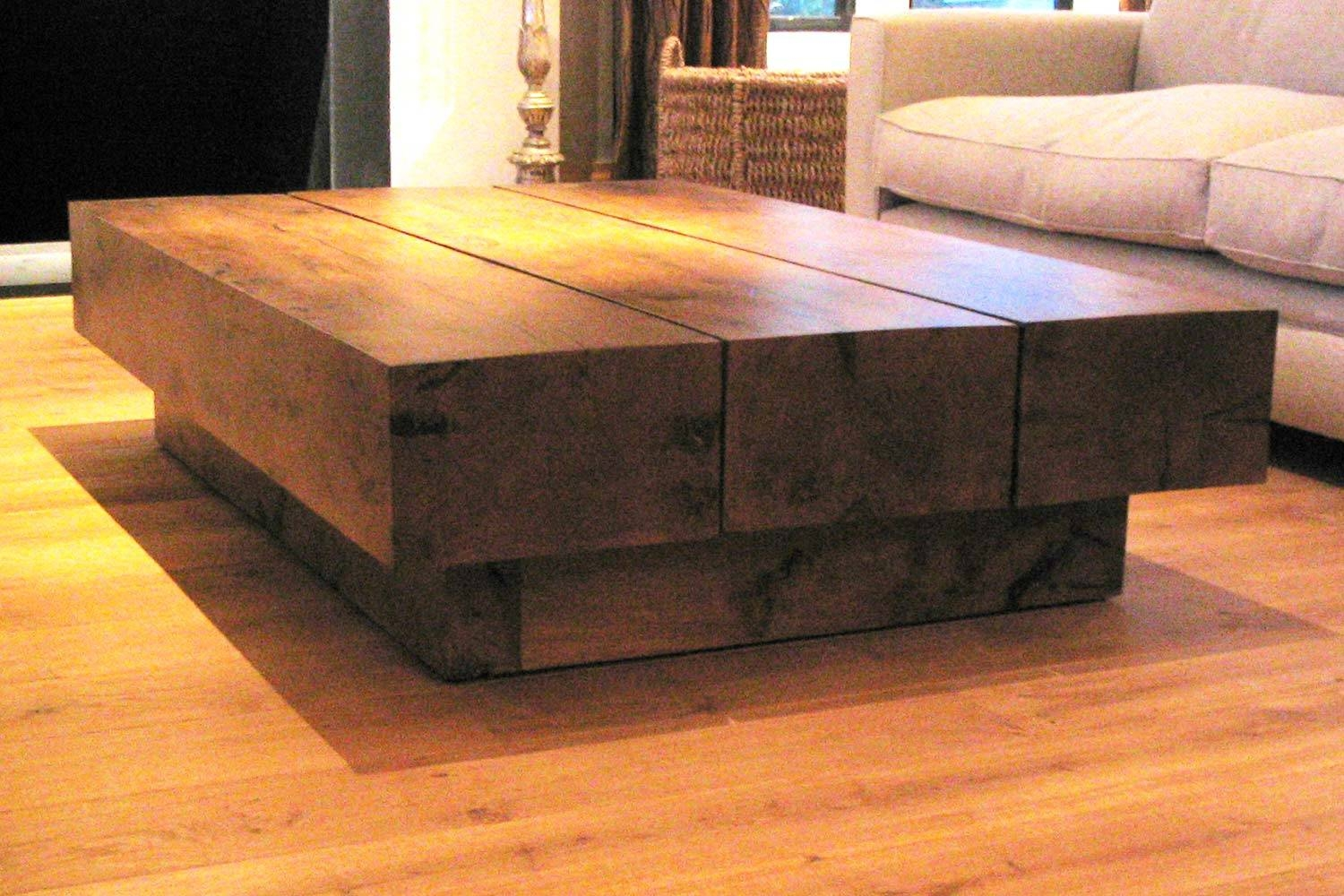 Beam Coffee Table | Ross Langley Bespoke Furniture And Joinery pertaining to Oak Beam Coffee Tables (Image 4 of 15)