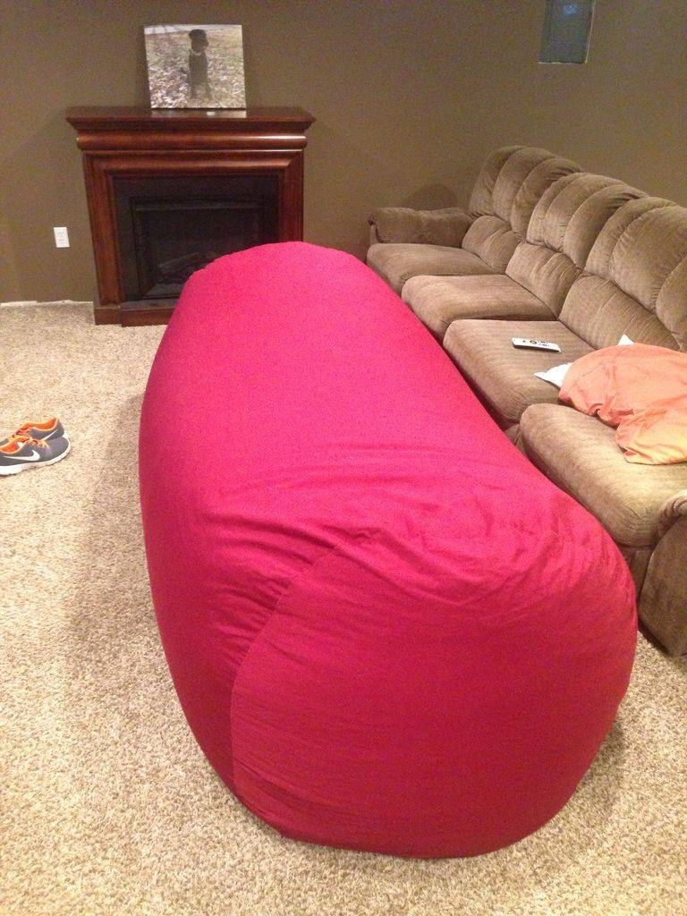 Bean Bag Sofa / Bed: 8 Steps (With Pictures) with Bean Bag Sofas and Chairs (Image 4 of 15)