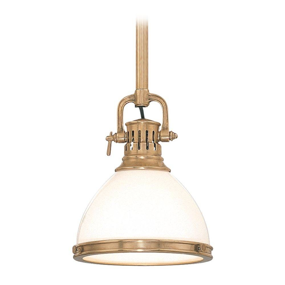 Beautiful Brass Pendant Lights 70 For Your Milk Glass Pendant Inside Milk Glass Pendant Lights (View 13 of 15)