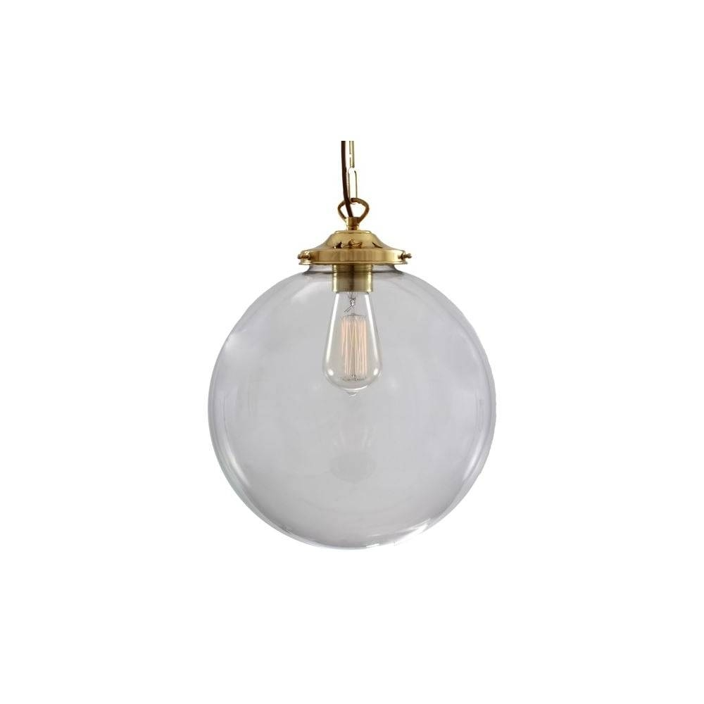 Beautiful Clear Glass Globe Ceiling Pendant - Lighting And Lights Uk throughout Glass Ball Pendant Lights Uk (Image 2 of 15)