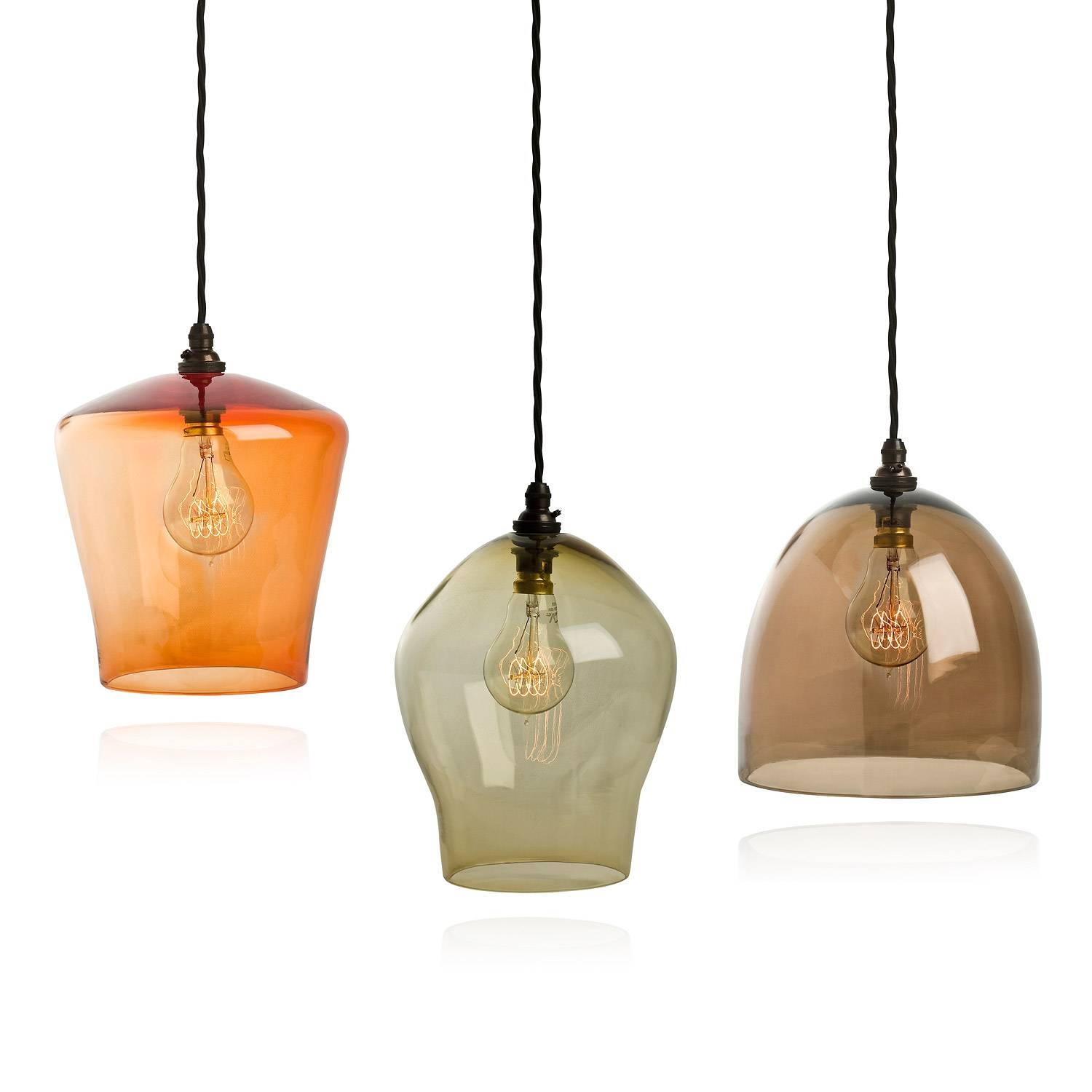 Beautiful Glass Lighting Pendants 24 With Additional Pendant in Coloured Glass Lights (Image 1 of 15)