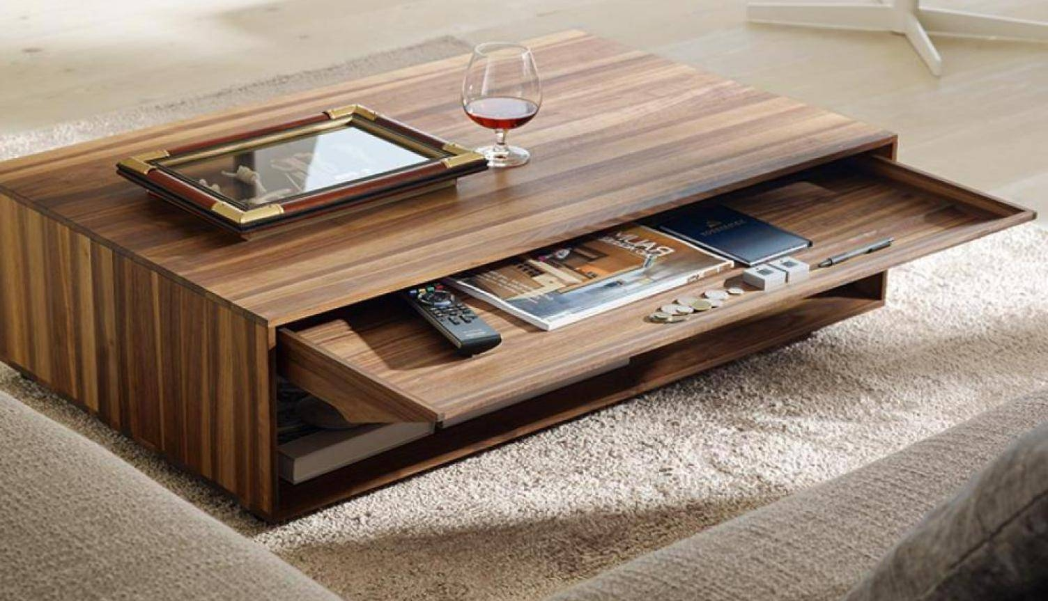 Beautiful Round Wood Coffee Table Modern Tags : Wood Glass Coffee inside Solid Glass Coffee Table (Image 1 of 15)