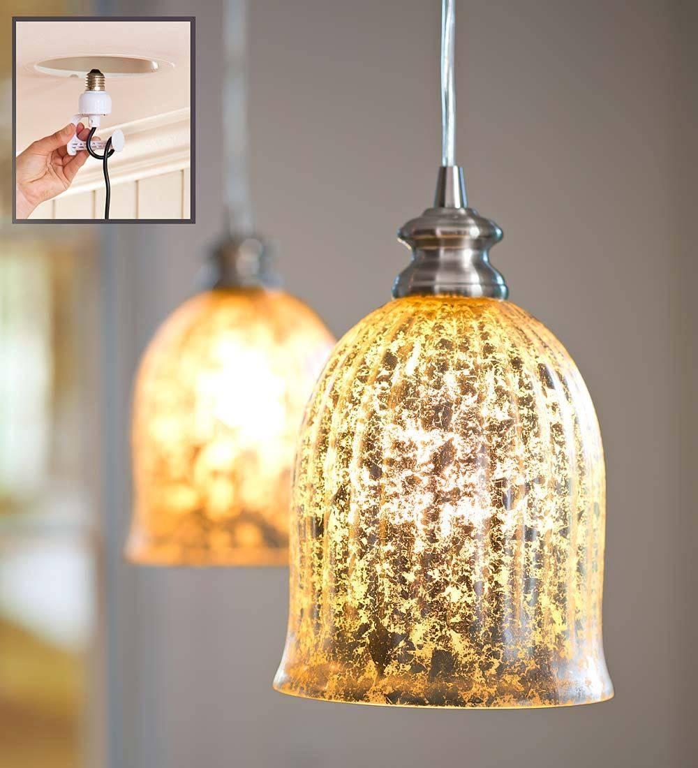 Beauty Mercury Glass Pendant Light Kitchen | Tedxumkc Decoration regarding Mercury Glass Lights Fixtures (Image 1 of 15)