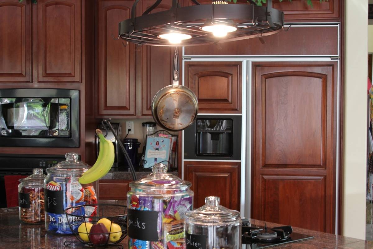 Beauty Pot Rack With Lights | Home Lighting Insight intended for Kitchen Pendant Lights With Pot Rack (Image 2 of 15)
