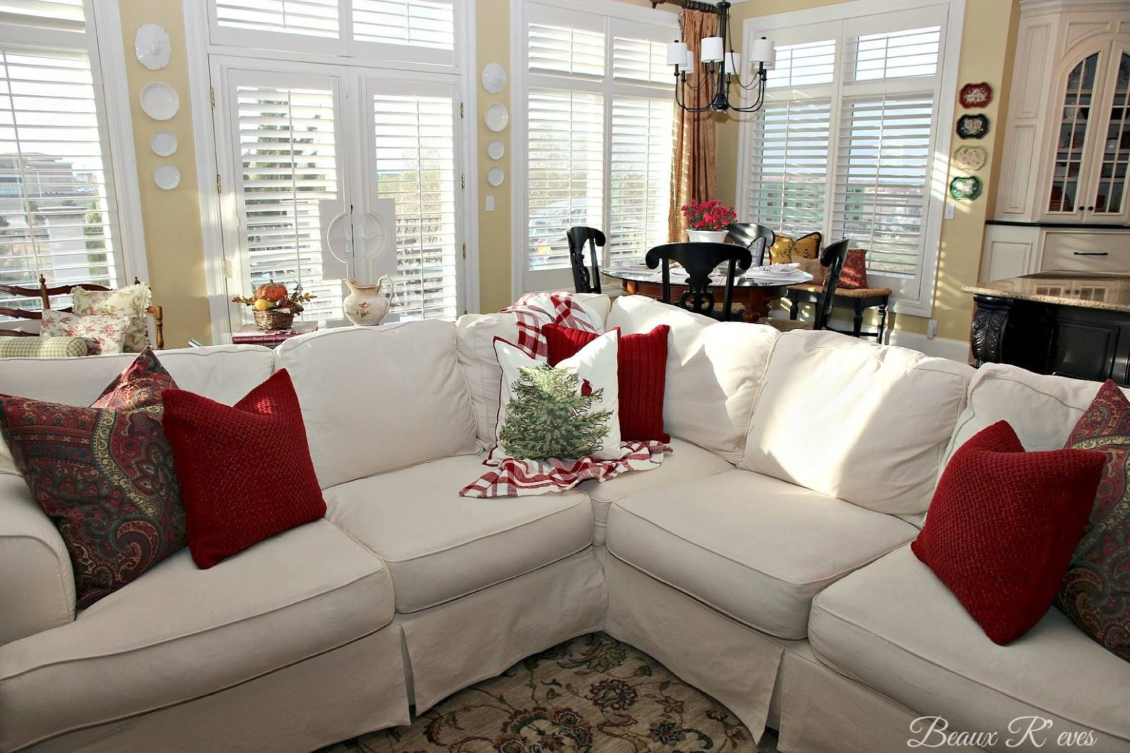 Beaux R'eves: Pottery Barn Knock Off Jcpenney Slipcovered For Jcpenney Sectional Sofas (View 10 of 15)