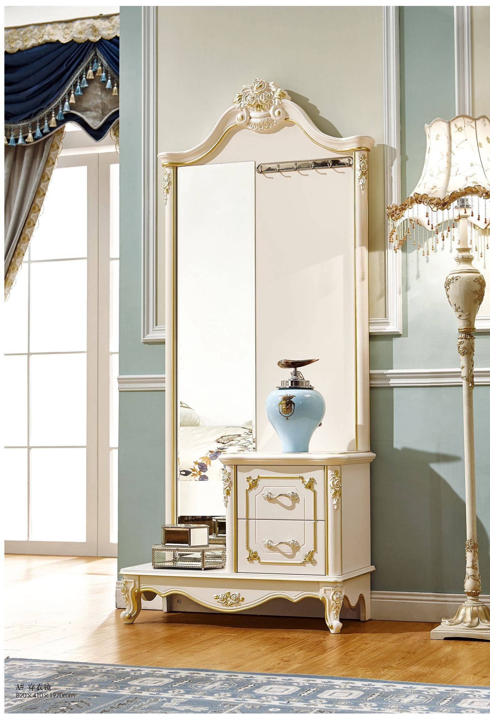 Bedroom : Contemporary Bedroom Sets Antique Vanity With Mirror inside Cheap French Style Mirrors (Image 4 of 15)