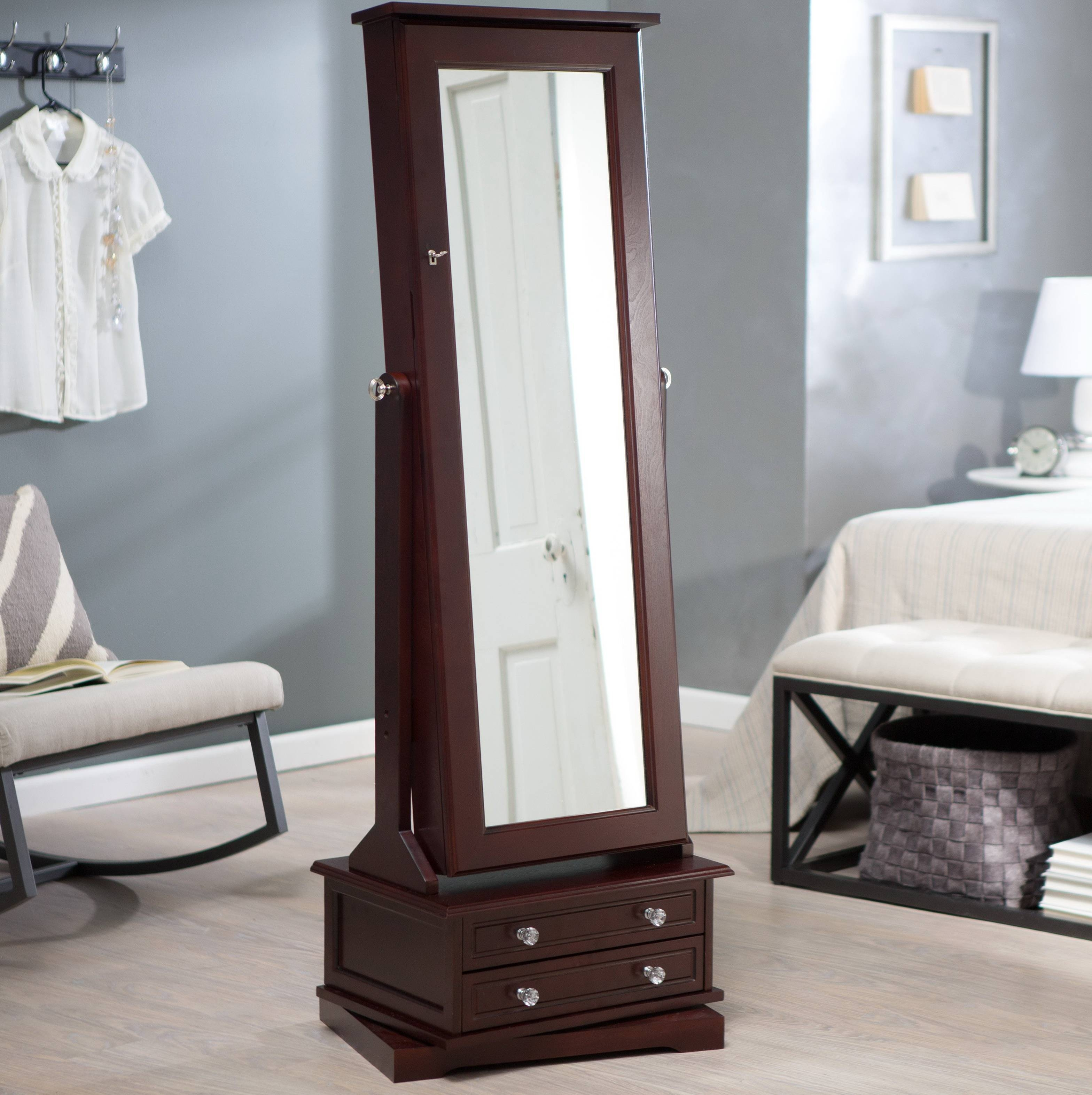 Bedroom Furniture : Standing Mirror Large Mirror Round Bedroom with regard to Round Shabby Chic Mirrors (Image 3 of 15)