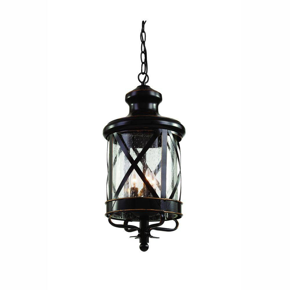 Bel Air Lighting Carriage House 3-Light Outdoor Oiled Rubbed throughout Carriage Pendant Lights (Image 1 of 15)