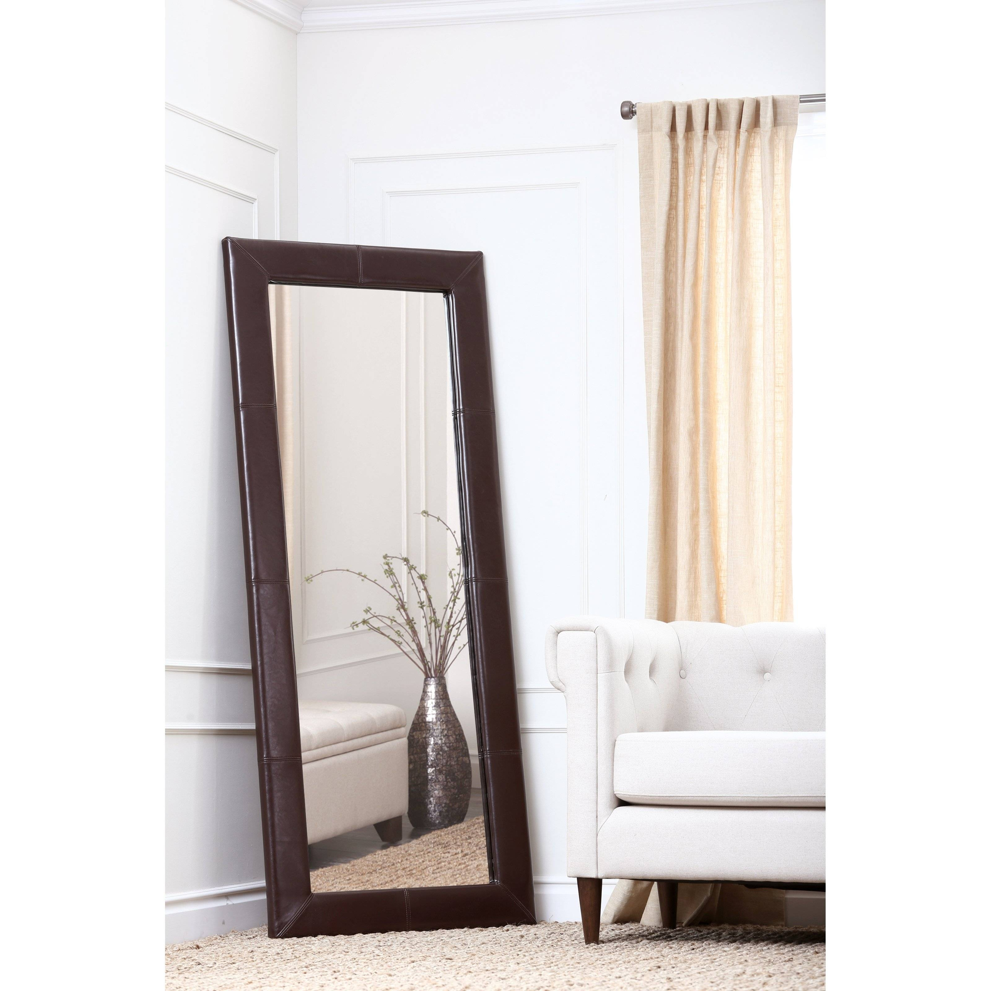 Belham Living Delano Espresso Brown Oversized Full Length Mirror within Large Brown Mirrors (Image 4 of 15)