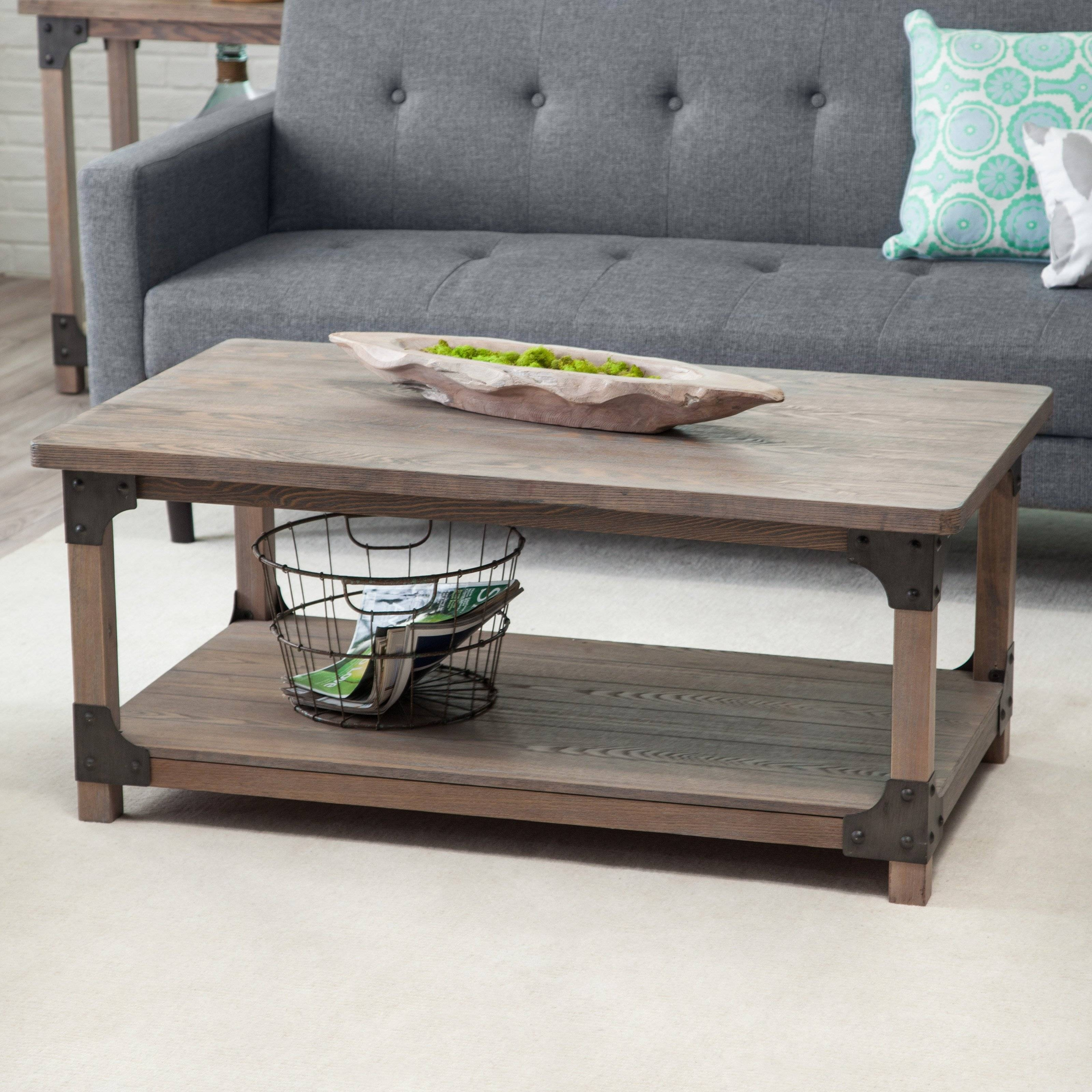 Belham Living Jamestown Rustic Coffee Table With Unique Driftwood for Rustic Wooden Coffee Tables (Image 1 of 15)