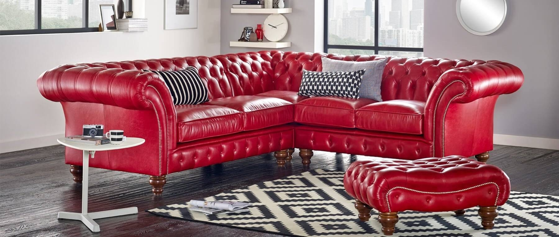 Bespoke Chesterfield Furniture Handmade In Britain | Sofassaxon regarding Red Chesterfield Sofas (Image 1 of 15)