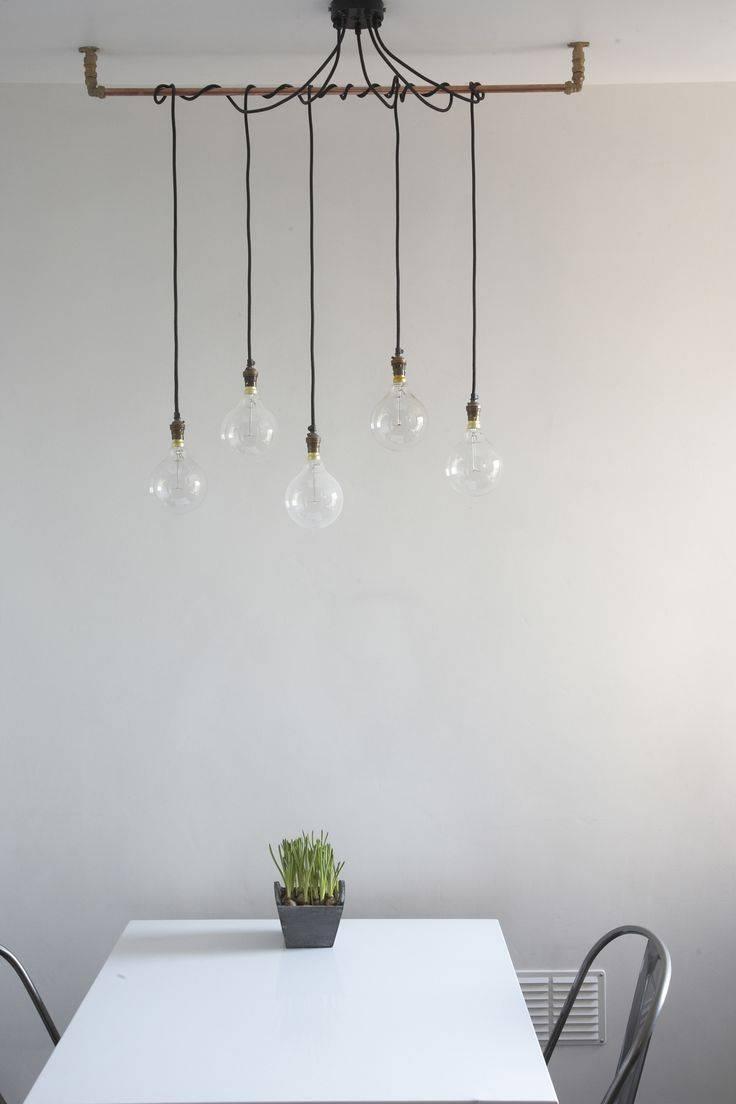 Best 10+ Hanging Light Bulbs Ideas On Pinterest | Light Bulb Vase in Exposed Bulb Pendant Track Lighting (Image 5 of 15)