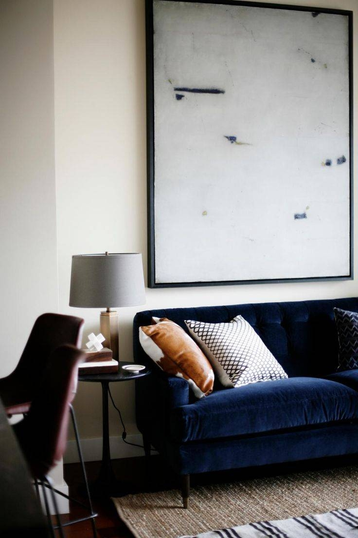 Best 20+ Navy Blue Couches Ideas On Pinterest | Blue Living Room With Midnight Blue Sofas (View 7 of 15)