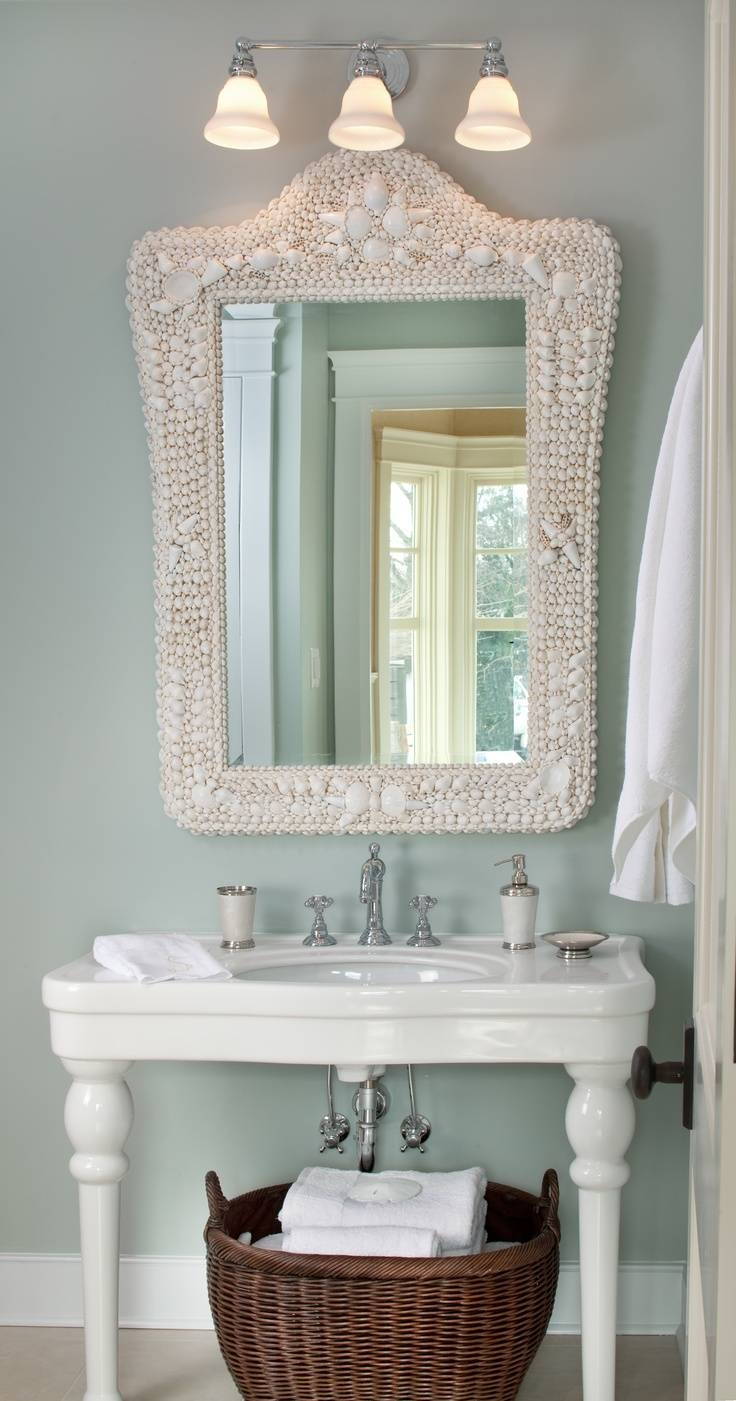 Best 25+ Coastal Powder Room Ideas On Pinterest | Small Pedestal pertaining to Beachy Lighting (Image 6 of 15)