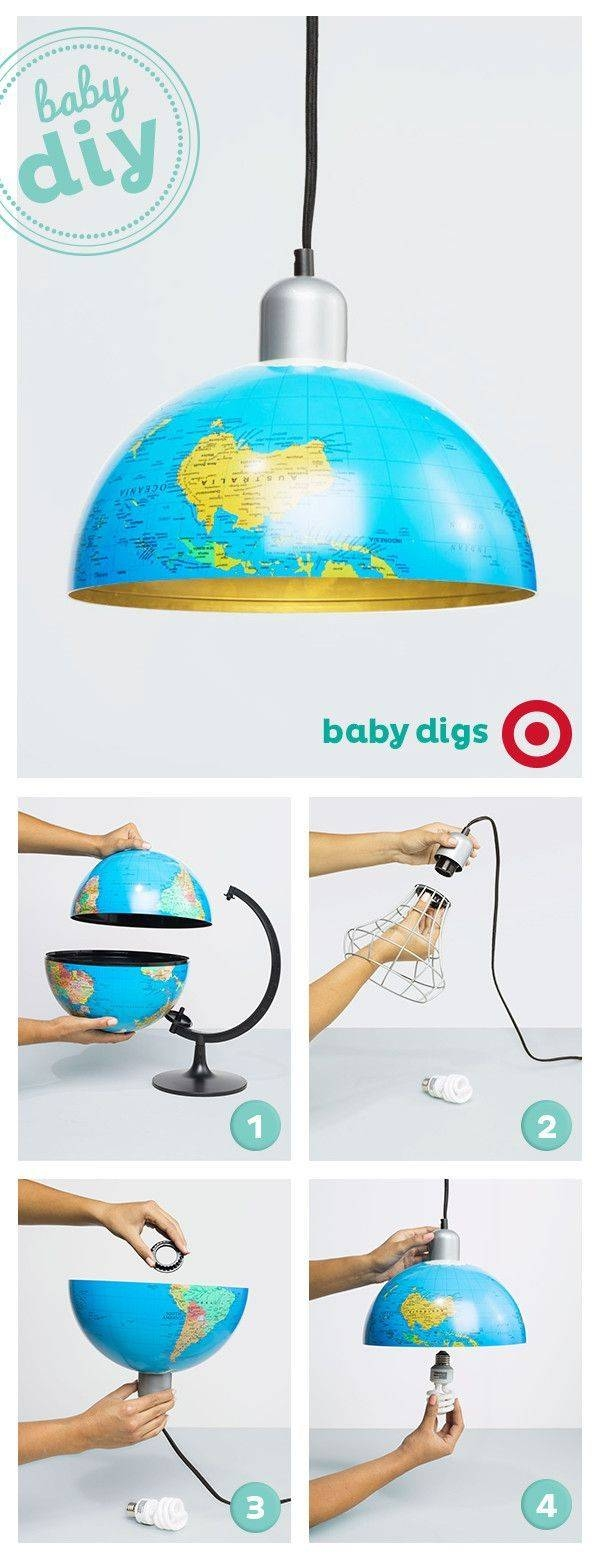 Best 25+ Globe Lamps Ideas On Pinterest | Globes, Global Map And within Earth Globe Lights Fixtures (Image 3 of 15)