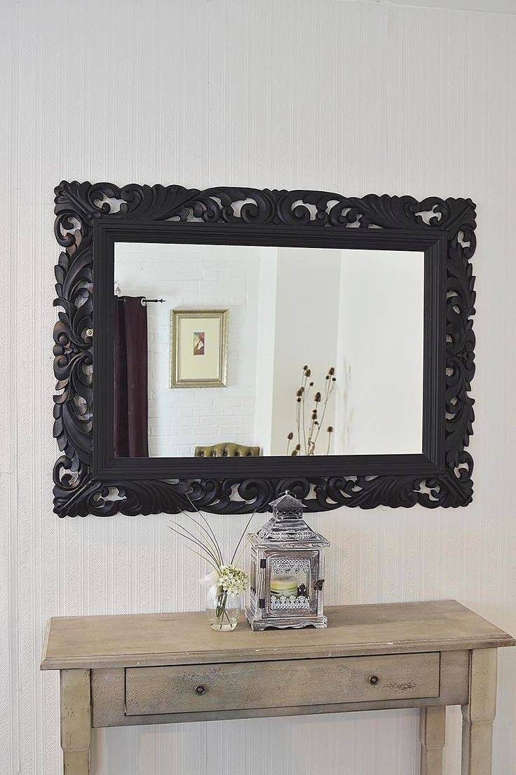 Best 25+ Large Black Mirror Ideas On Pinterest | Vintage Fireplace regarding Large Black Round Mirrors (Image 2 of 15)