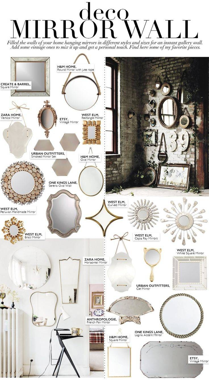 Best 25+ Mirror Wall Collage Ideas On Pinterest | Gallery Wall regarding Small Antique Wall Mirrors (Image 8 of 15)