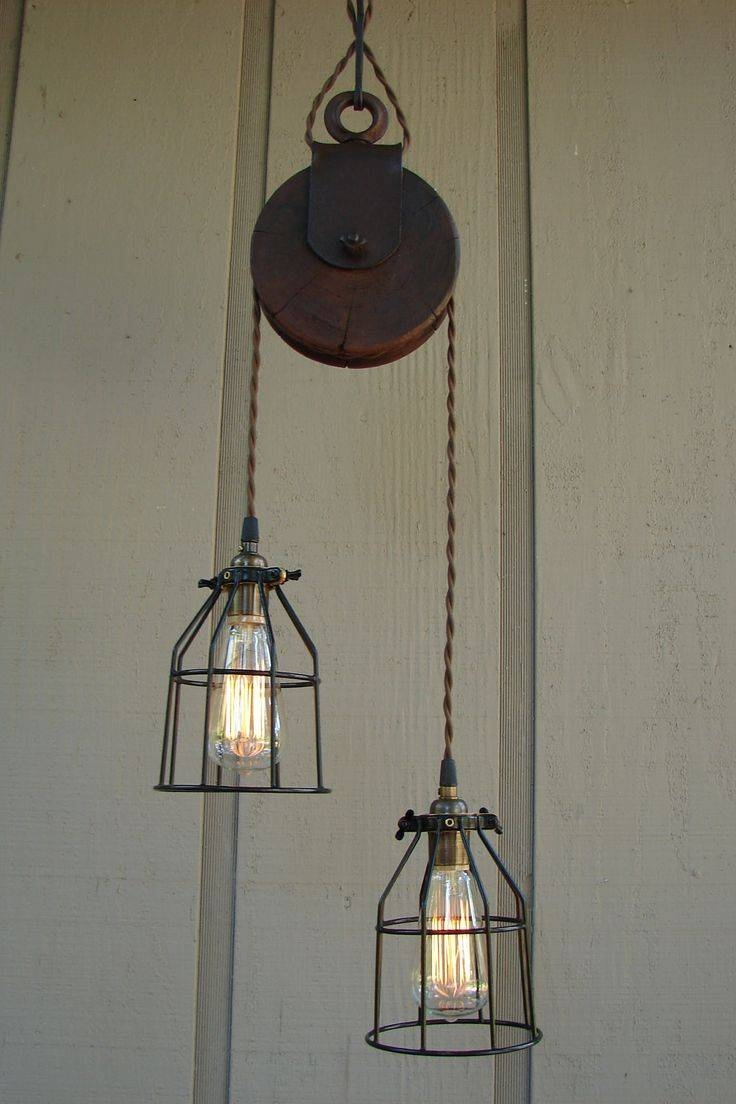 Best 25+ Pulley Light Ideas On Pinterest | Pulley, Vintage with regard to Pulley Lights Fixtures (Image 4 of 15)