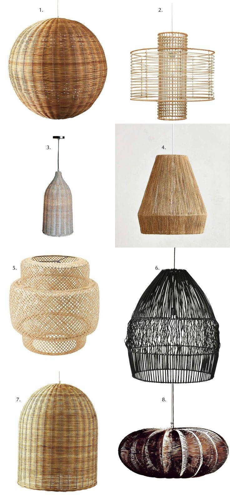 15 Collection Of Rattan Lights Fixtures