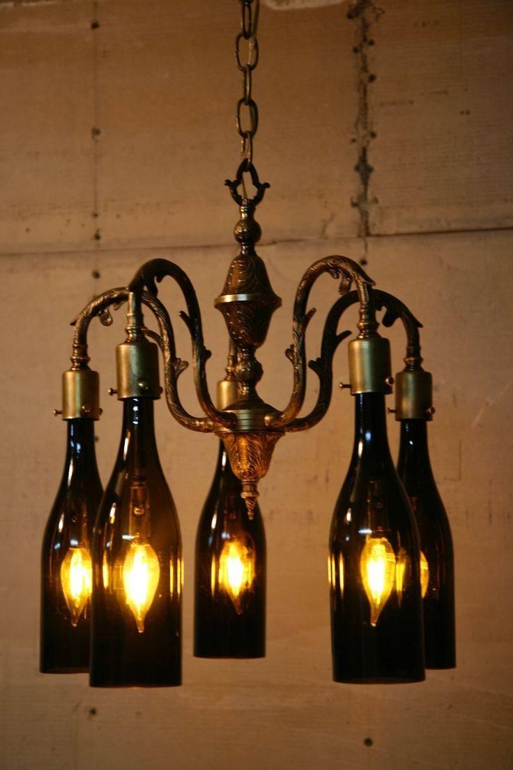 Best 25+ Wine Bottle Chandelier Ideas On Pinterest | Bottle with regard to Wine Glass Lights Fixtures (Image 1 of 15)