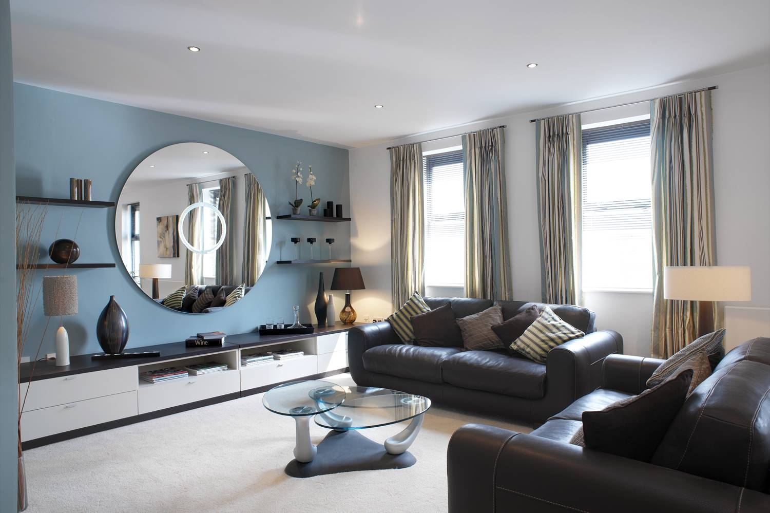 Best 30+ Blue Gray Brown Living Room Decorating Design Of 25+ Best pertaining to Blue Gray Sofas (Image 3 of 15)
