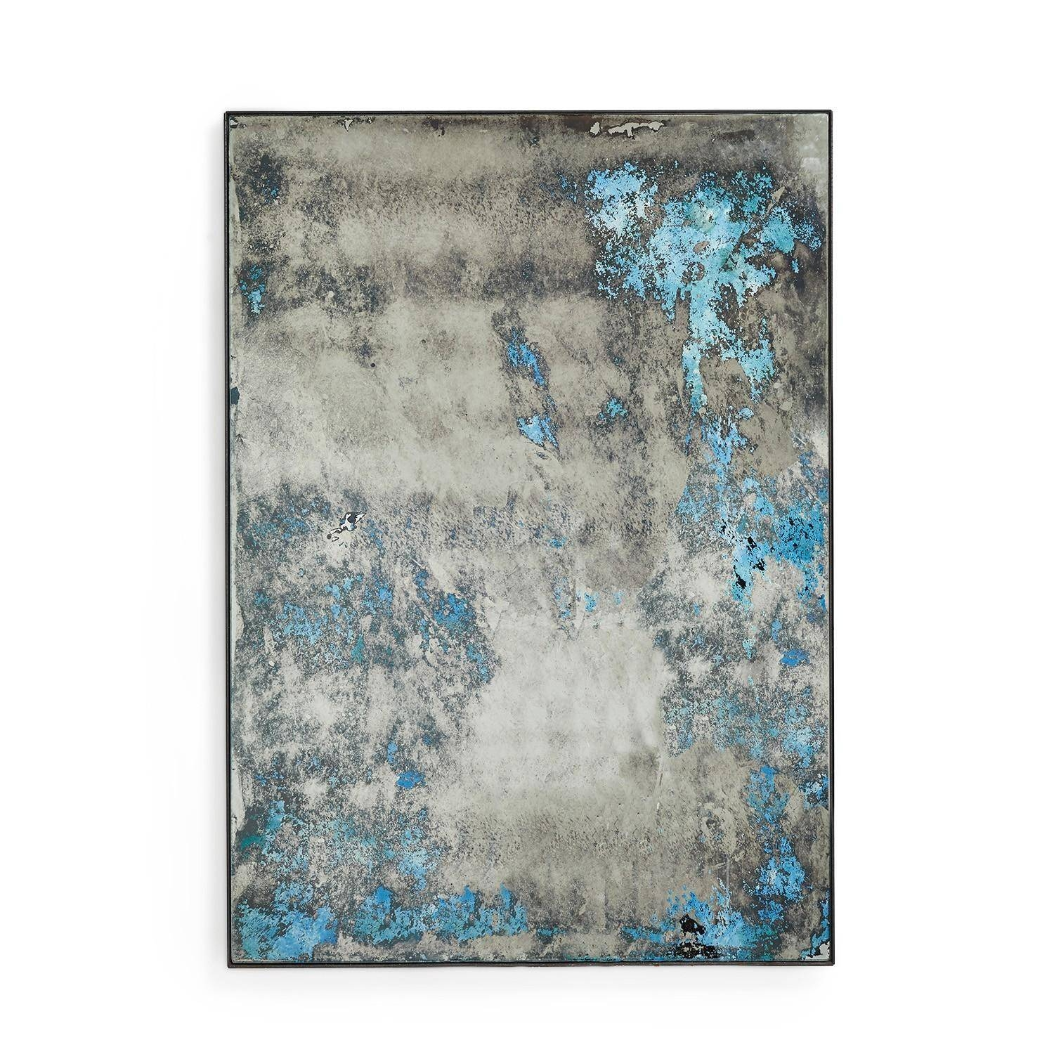 Popular Photo of Blue Distressed Mirrors