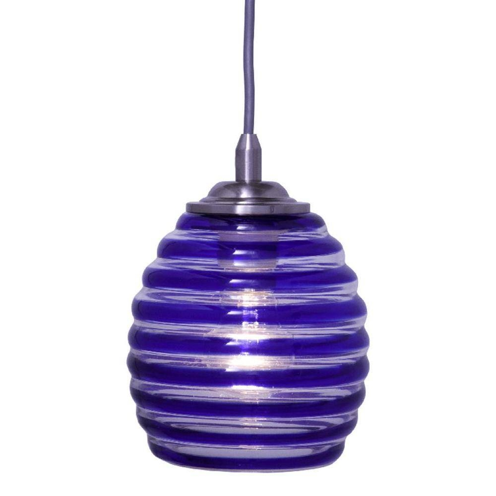 Best Blue Glass Pendant Light For Interior Design Pictures One pertaining to Navy Pendant Lights (Image 3 of 15)